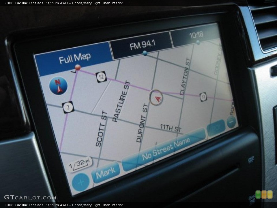 Cocoa/Very Light Linen Interior Navigation for the 2008 Cadillac Escalade Platinum AWD #39171650