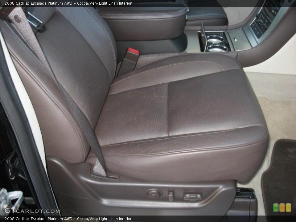Cocoa/Very Light Linen Interior Photo for the 2008 Cadillac Escalade Platinum AWD #39171694