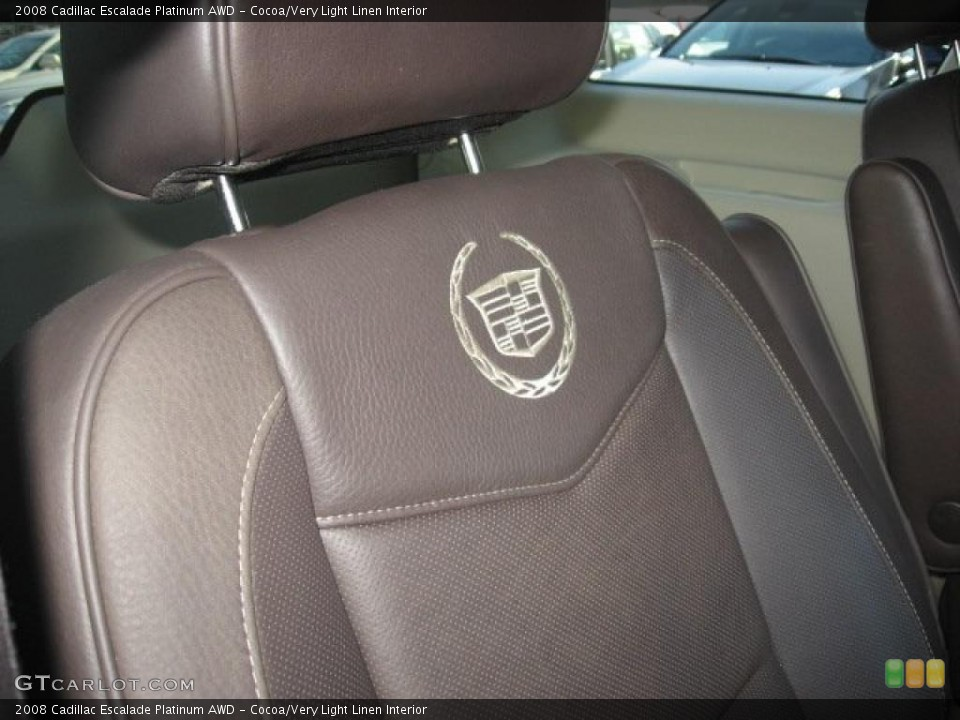 Cocoa/Very Light Linen Interior Photo for the 2008 Cadillac Escalade Platinum AWD #39171714