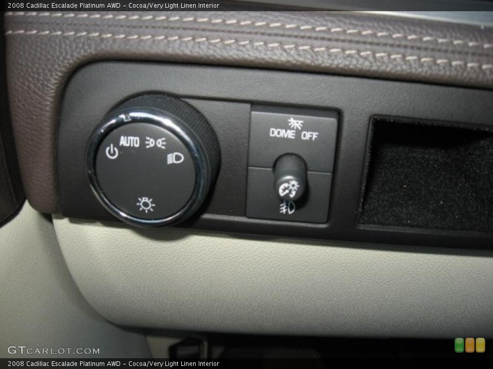 Cocoa/Very Light Linen Interior Controls for the 2008 Cadillac Escalade Platinum AWD #39171834