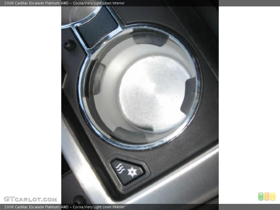 Cocoa/Very Light Linen Interior Controls for the 2008 Cadillac Escalade Platinum AWD #39171882