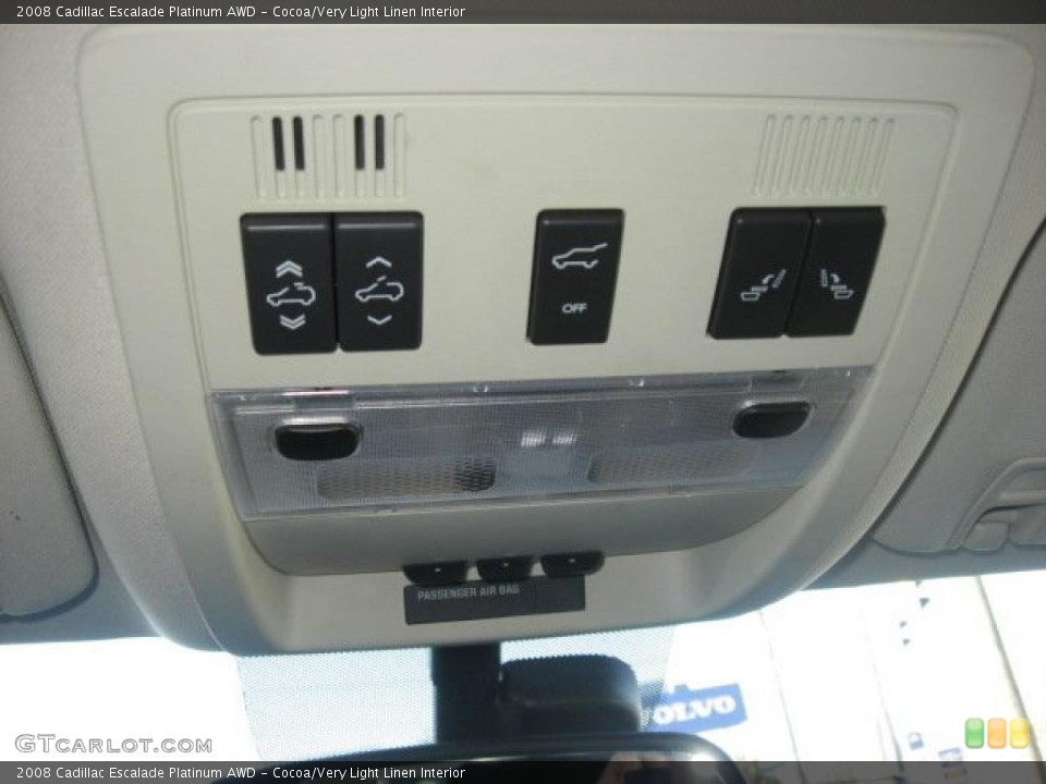 Cocoa/Very Light Linen Interior Controls for the 2008 Cadillac Escalade Platinum AWD #39171990
