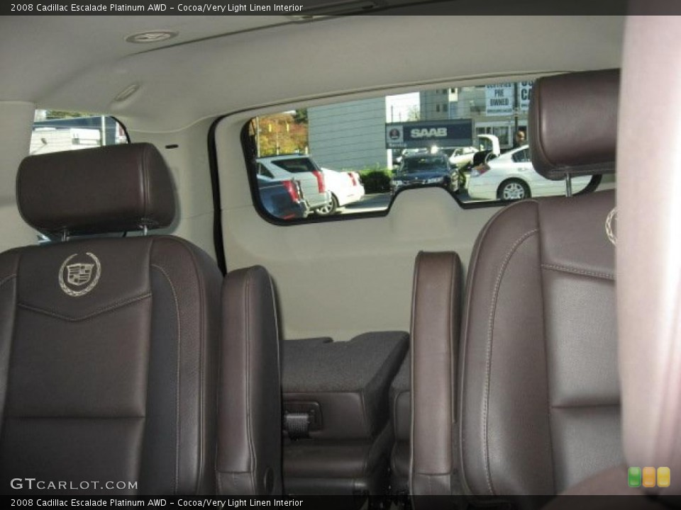 Cocoa/Very Light Linen Interior Photo for the 2008 Cadillac Escalade Platinum AWD #39171998