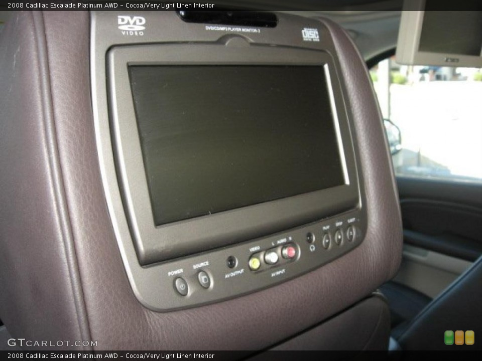 Cocoa/Very Light Linen Interior Controls for the 2008 Cadillac Escalade Platinum AWD #39172014