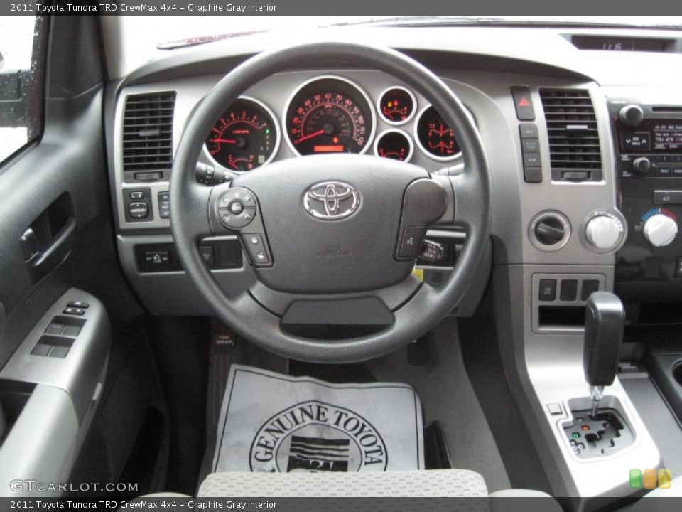 Graphite Gray Interior Steering Wheel for the 2011 Toyota Tundra TRD CrewMax 4x4 #39181991
