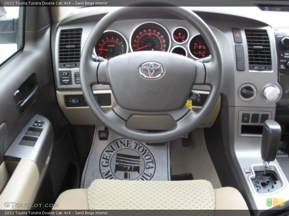 Sand Beige Interior Steering Wheel for the 2011 Toyota Tundra Double Cab 4x4 #39182247