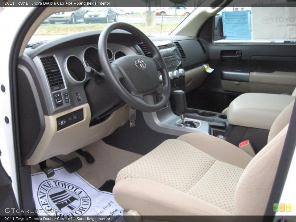 Sand Beige Interior Prime Interior for the 2011 Toyota Tundra Double Cab 4x4 #39182279