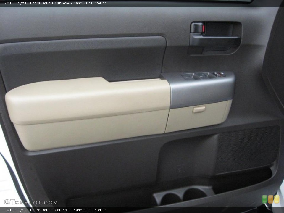 Sand Beige Interior Door Panel for the 2011 Toyota Tundra Double Cab 4x4 #39182295