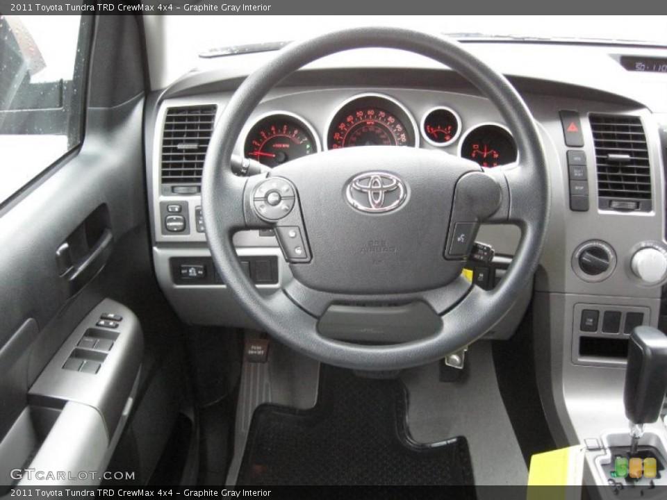 Graphite Gray Interior Steering Wheel for the 2011 Toyota Tundra TRD CrewMax 4x4 #39182495