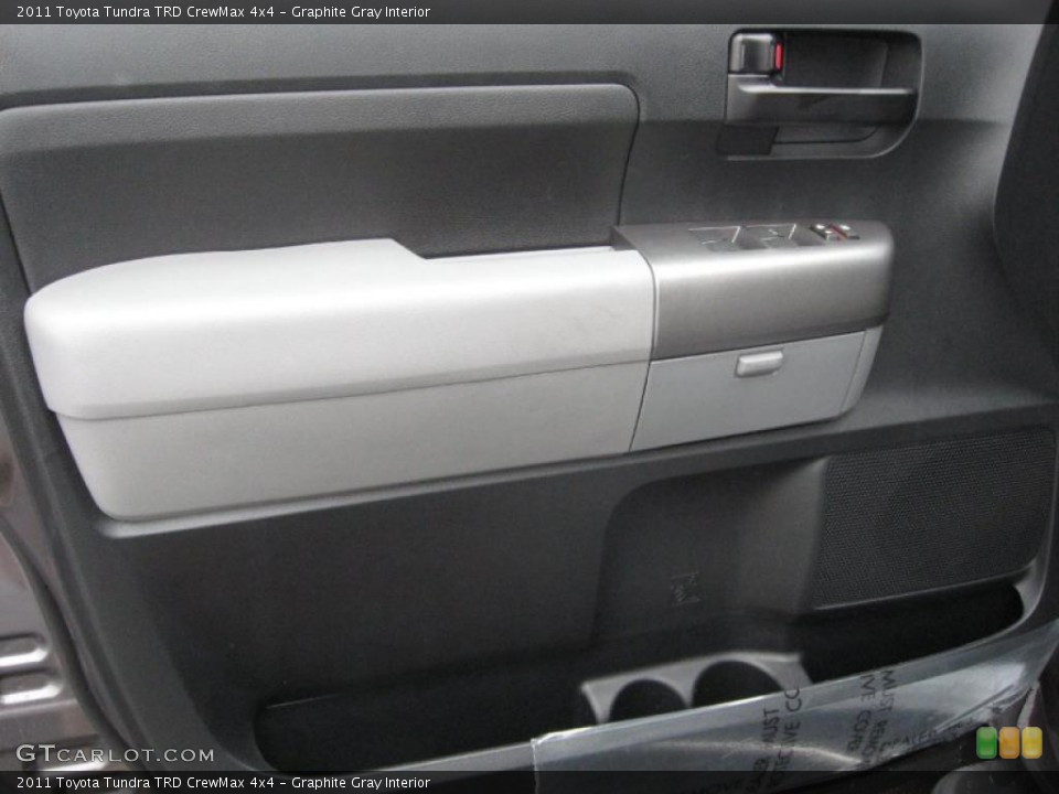 Graphite Gray Interior Door Panel for the 2011 Toyota Tundra TRD CrewMax 4x4 #39182539