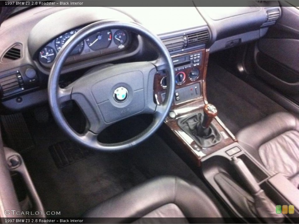 Black Interior Prime Interior for the 1997 BMW Z3 2.8 Roadster #39212810