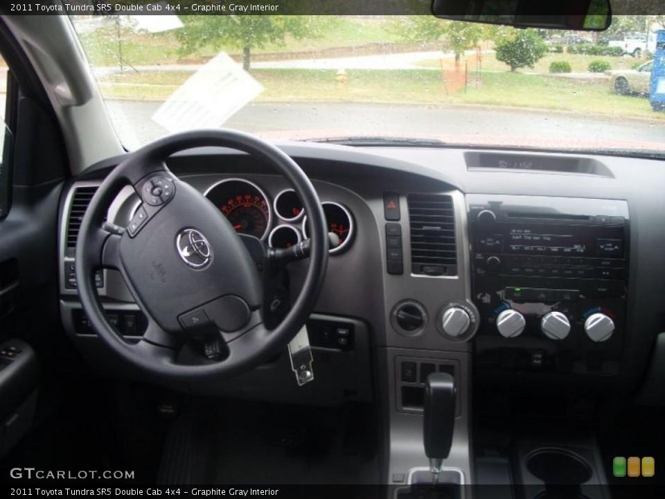 Graphite Gray Interior Dashboard for the 2011 Toyota Tundra SR5 Double Cab 4x4 #39222778