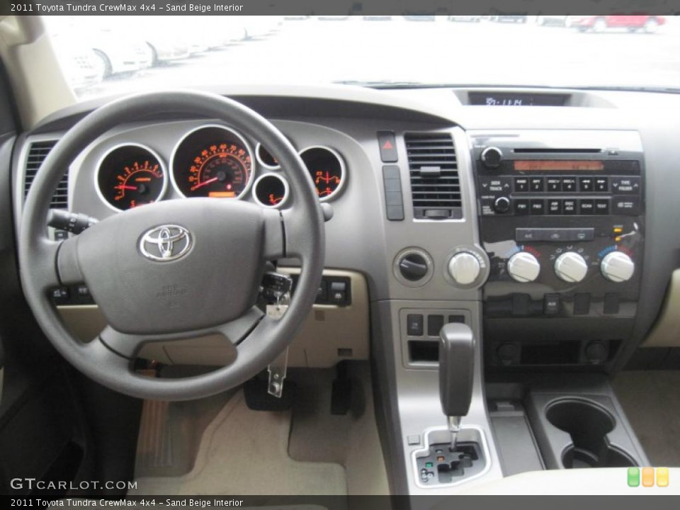 Sand Beige Interior Dashboard for the 2011 Toyota Tundra CrewMax 4x4 #39297979