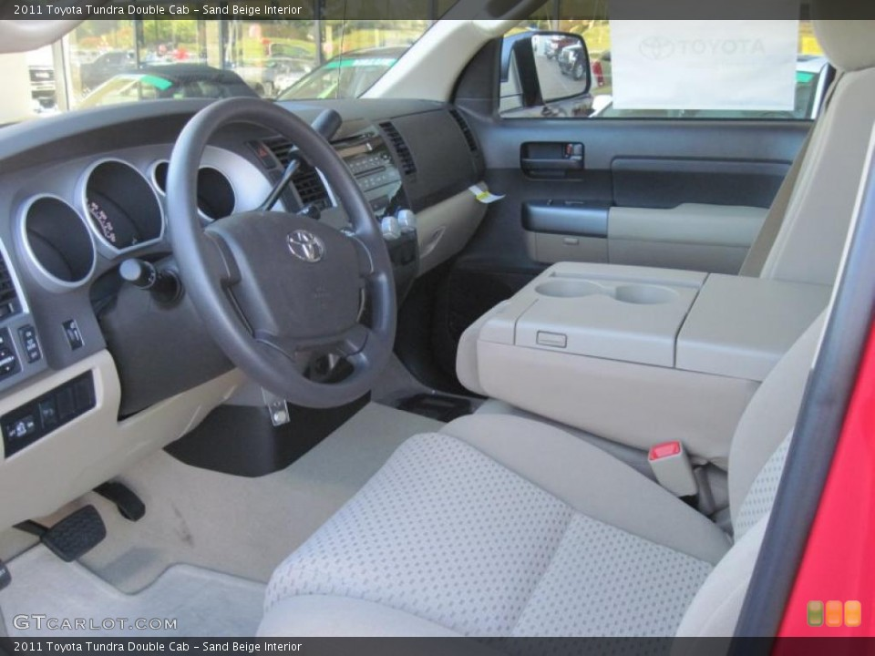 Sand Beige Interior Prime Interior for the 2011 Toyota Tundra Double Cab #39298937