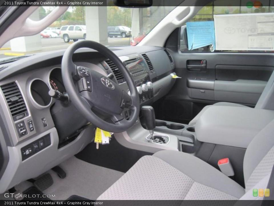 Graphite Gray Interior Prime Interior for the 2011 Toyota Tundra CrewMax 4x4 #39299193