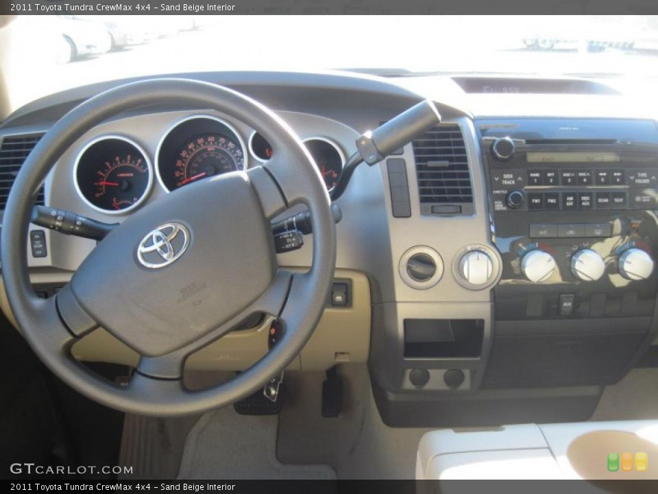 Sand Beige Interior Dashboard for the 2011 Toyota Tundra CrewMax 4x4 #39299481