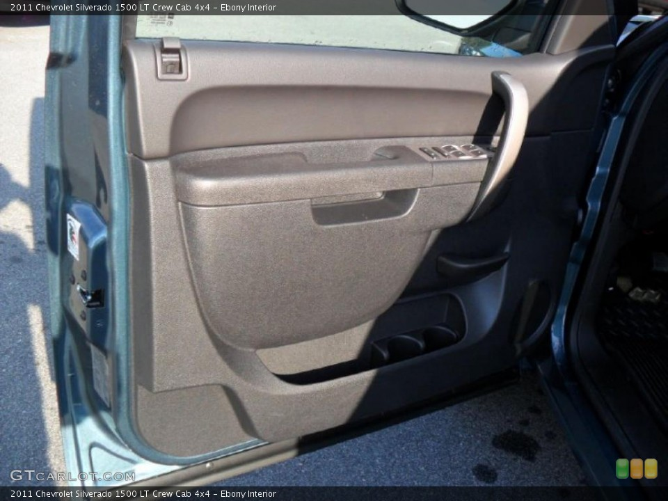Ebony Interior Door Panel for the 2011 Chevrolet Silverado 1500 LT Crew Cab 4x4 #39343180