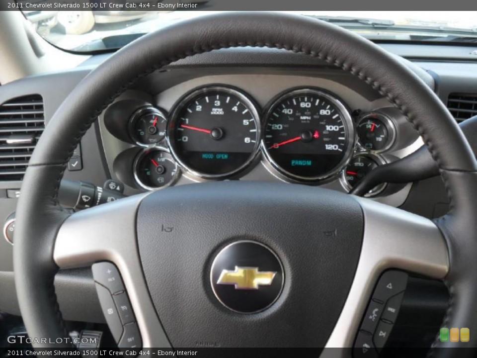 Ebony Interior Steering Wheel for the 2011 Chevrolet Silverado 1500 LT Crew Cab 4x4 #39343196