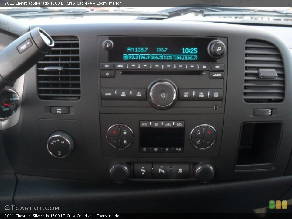 Ebony Interior Controls for the 2011 Chevrolet Silverado 1500 LT Crew Cab 4x4 #39343260