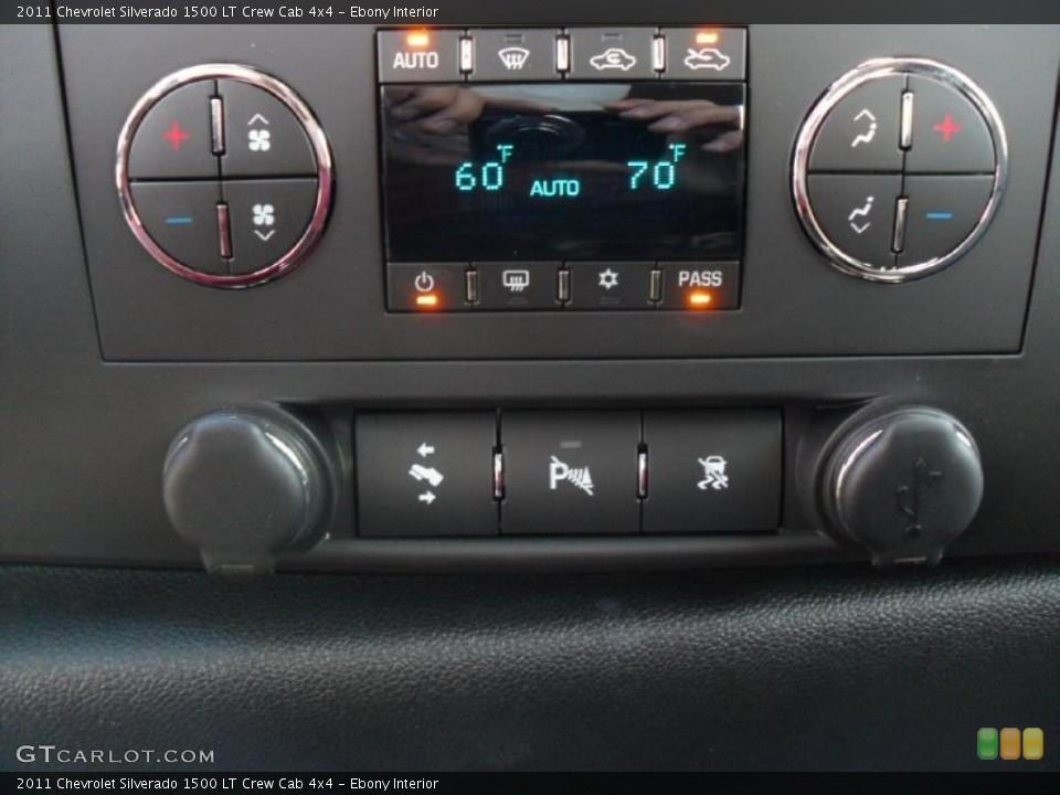 Ebony Interior Controls for the 2011 Chevrolet Silverado 1500 LT Crew Cab 4x4 #39343276