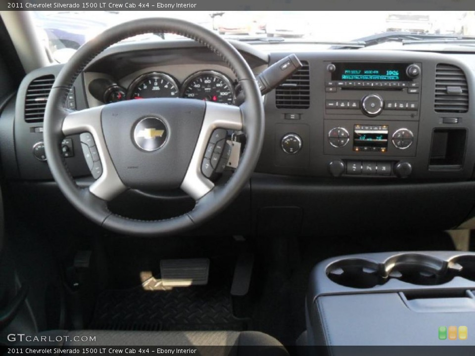 Ebony Interior Dashboard for the 2011 Chevrolet Silverado 1500 LT Crew Cab 4x4 #39343308