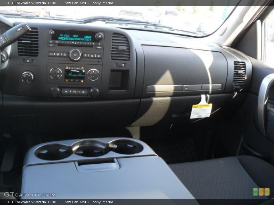 Ebony Interior Dashboard for the 2011 Chevrolet Silverado 1500 LT Crew Cab 4x4 #39343324