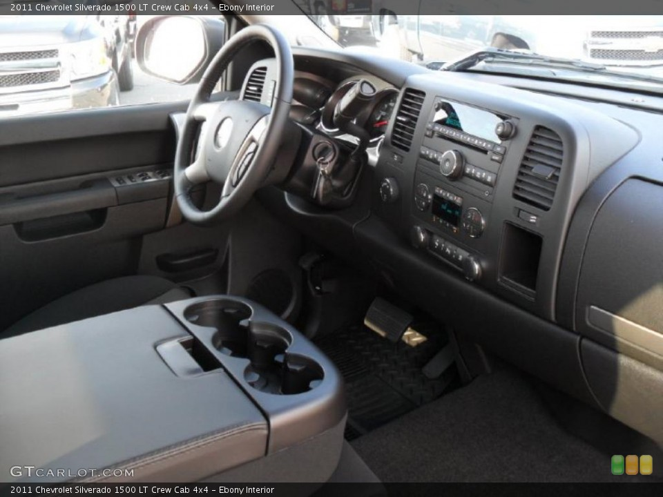 Ebony Interior Dashboard for the 2011 Chevrolet Silverado 1500 LT Crew Cab 4x4 #39343400