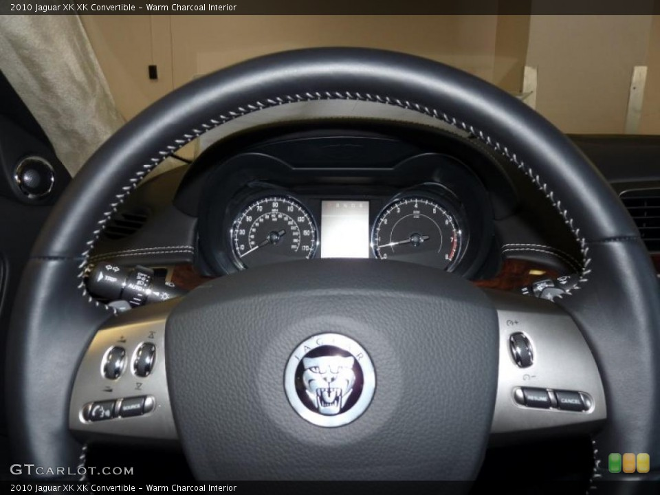 Warm Charcoal Interior Steering Wheel for the 2010 Jaguar XK XK Convertible #39375302