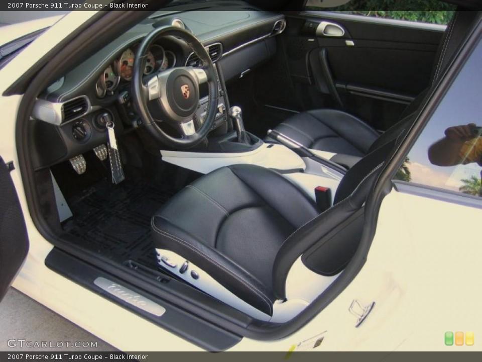 Black Interior Photo for the 2007 Porsche 911 Turbo Coupe #39455978