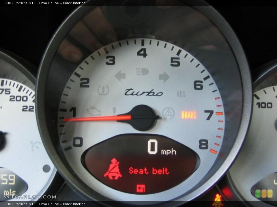 Black Interior Gauges for the 2007 Porsche 911 Turbo Coupe #39456174