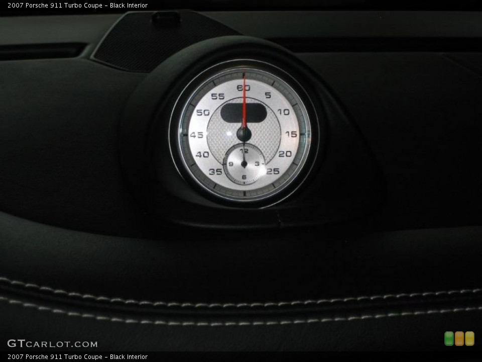 Black Interior Gauges for the 2007 Porsche 911 Turbo Coupe #39456210