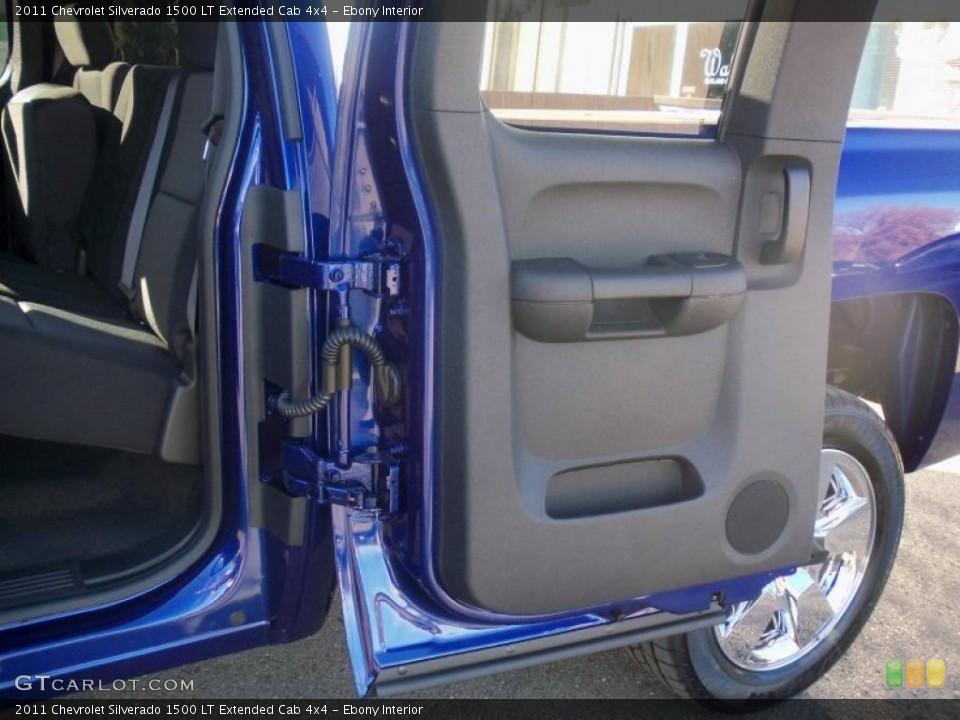Ebony Interior Door Panel for the 2011 Chevrolet Silverado 1500 LT Extended Cab 4x4 #39632902