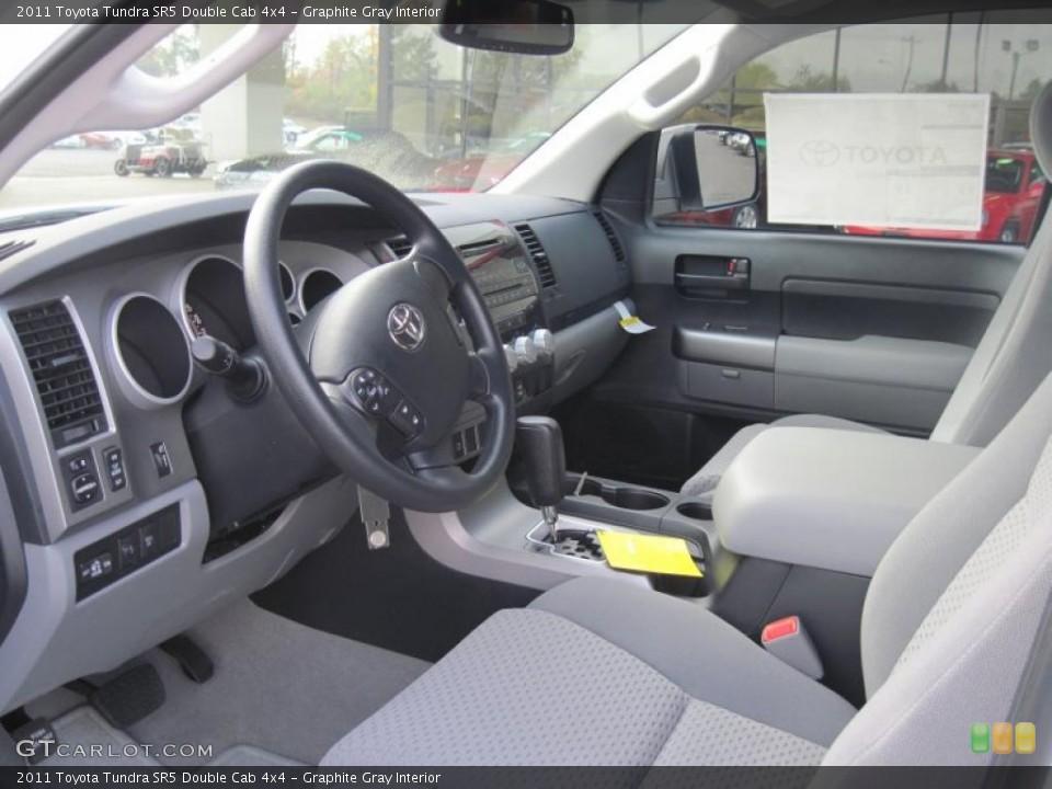 Graphite Gray Interior Photo for the 2011 Toyota Tundra SR5 Double Cab 4x4 #39689087