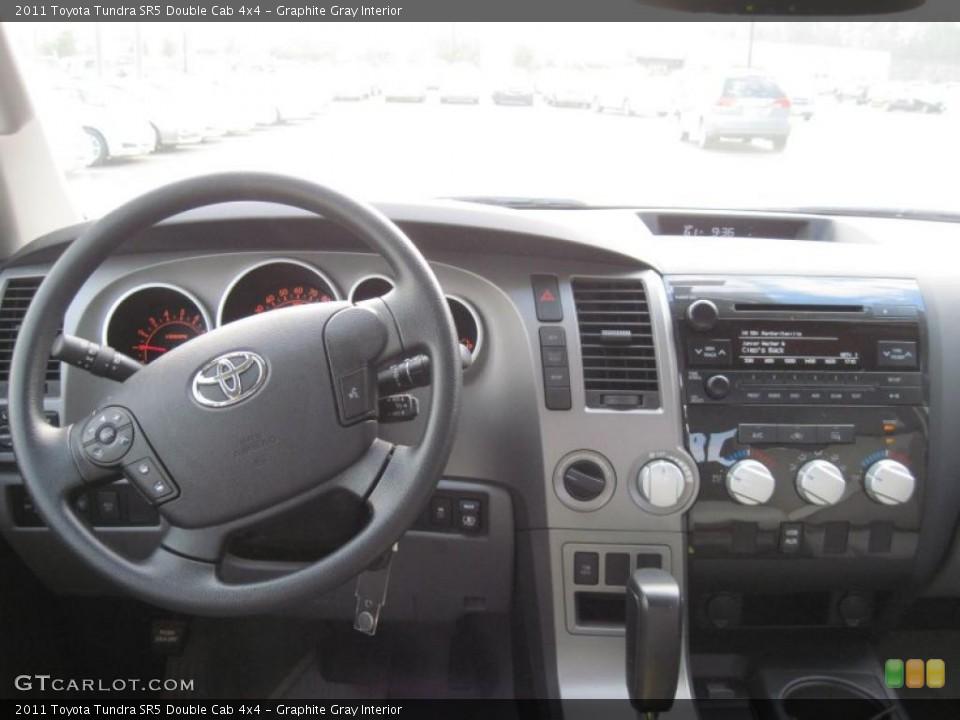 Graphite Gray Interior Dashboard for the 2011 Toyota Tundra SR5 Double Cab 4x4 #39689147