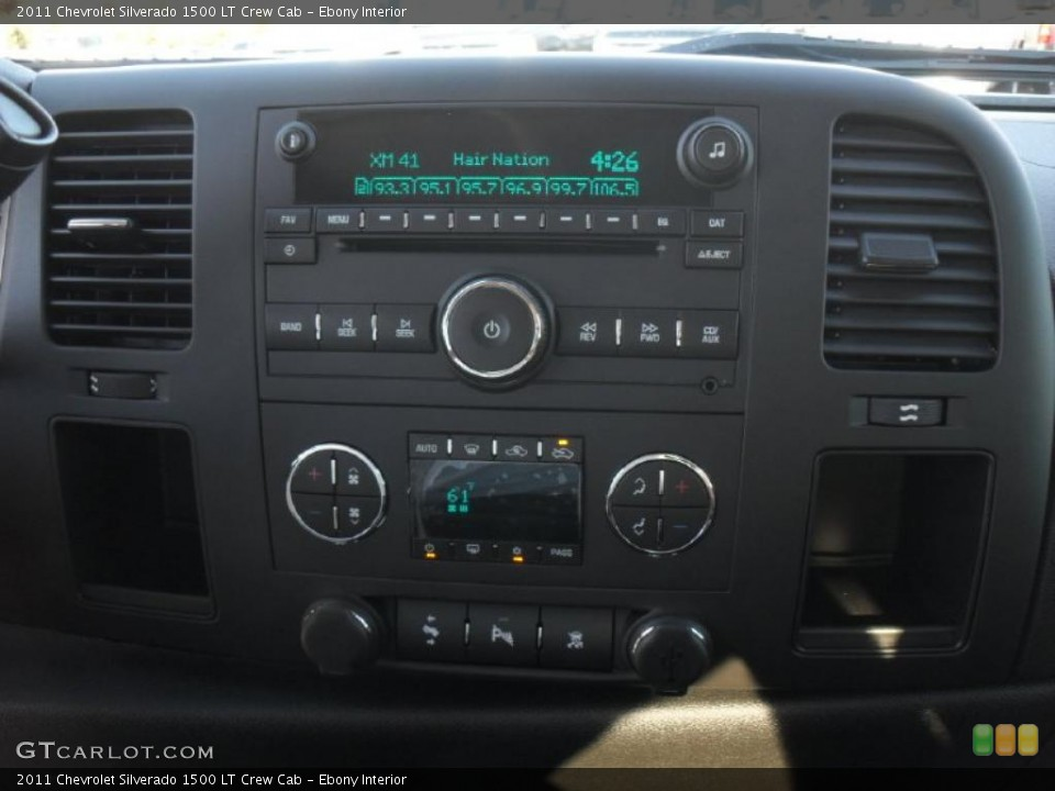Ebony Interior Controls for the 2011 Chevrolet Silverado 1500 LT Crew Cab #39700678