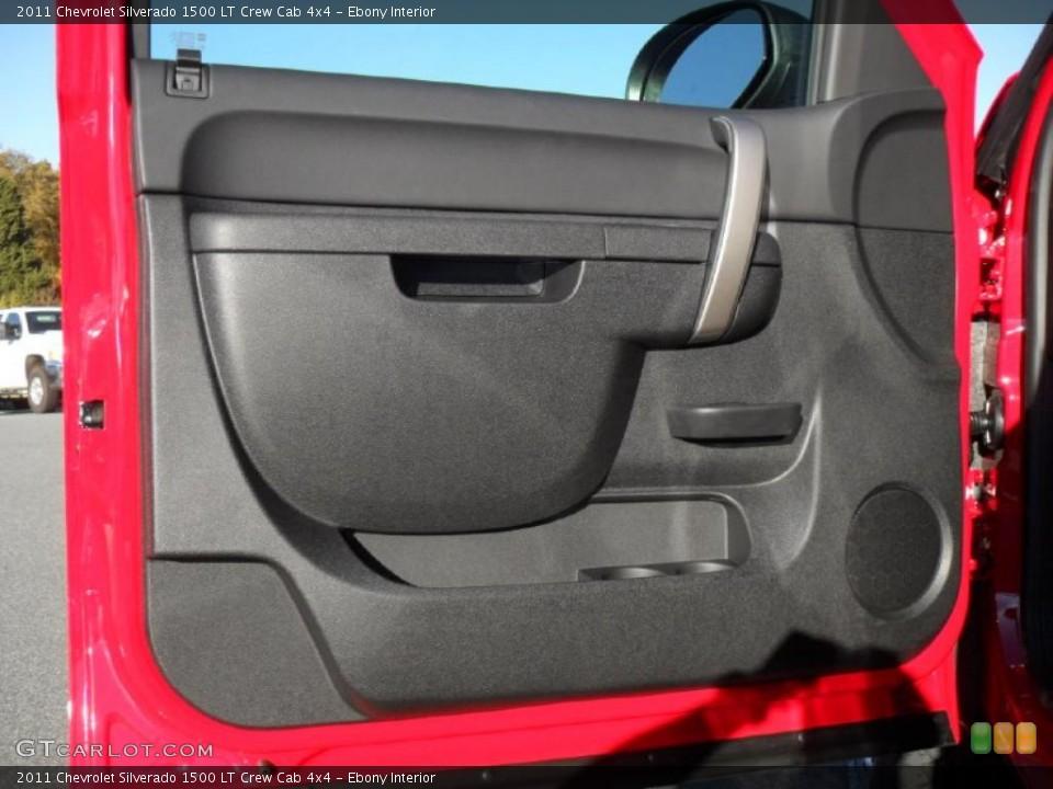 Ebony Interior Door Panel for the 2011 Chevrolet Silverado 1500 LT Crew Cab 4x4 #39701879