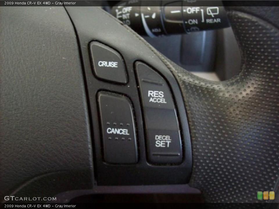 Gray Interior Controls for the 2009 Honda CR-V EX 4WD #39787222