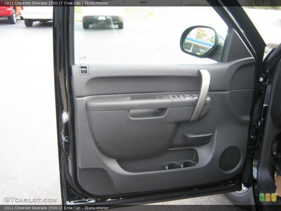Ebony Interior Door Panel for the 2011 Chevrolet Silverado 1500 LT Crew Cab #39830751