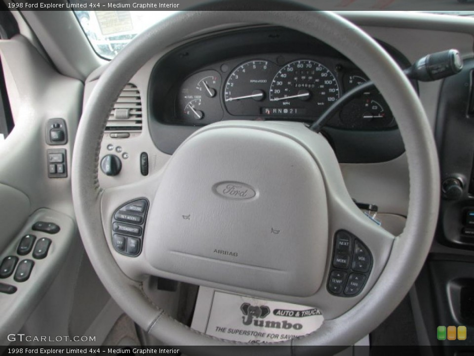 Medium Graphite Interior Steering Wheel for the 1998 Ford Explorer Limited 4x4 #39862631