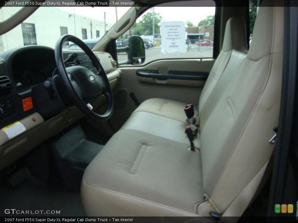 Tan 2007 Ford F550 Super Duty Interiors