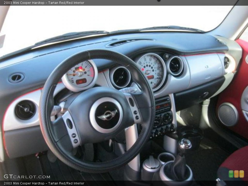 Tartan Red Red Interior Dashboard For The 2003 Mini Cooper Hardtop