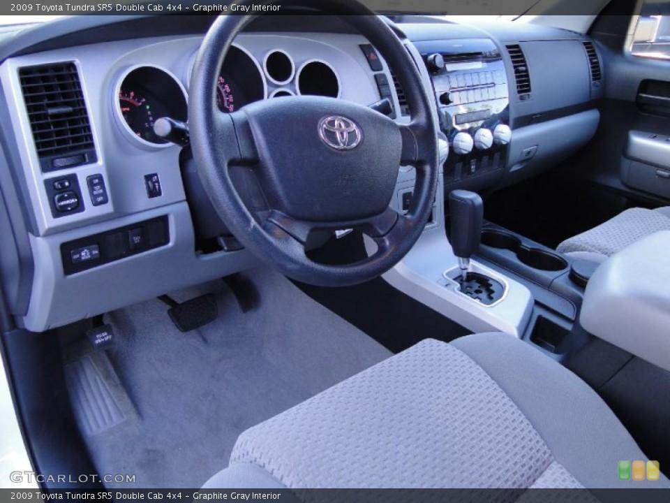 Graphite Gray Interior Prime Interior for the 2009 Toyota Tundra SR5 Double Cab 4x4 #39939028