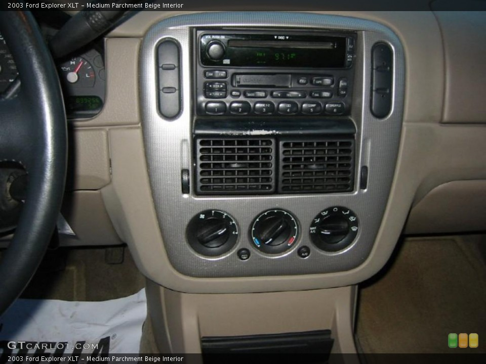 Medium Parchment Beige Interior Controls for the 2003 Ford Explorer XLT #39970088