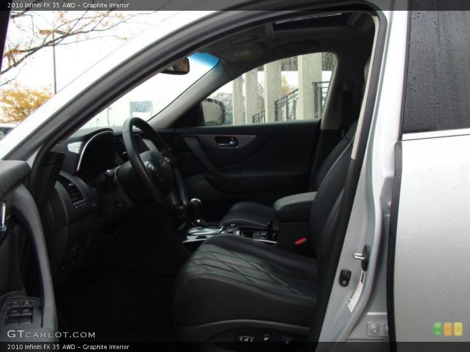 Graphite Interior Photo for the 2010 Infiniti FX 35 AWD #40046274