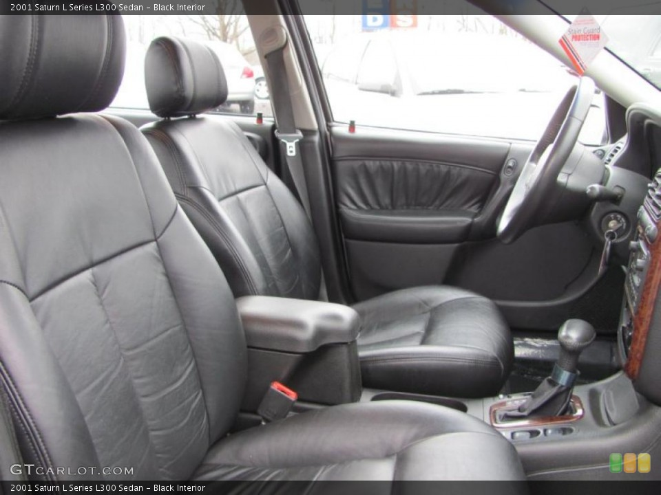 Black 2001 Saturn L Series Interiors