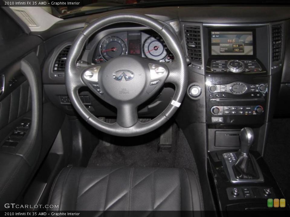 Graphite Interior Dashboard for the 2010 Infiniti FX 35 AWD #40200612