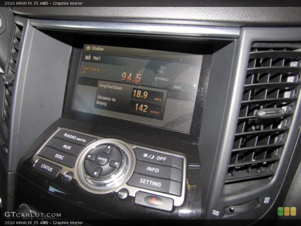 Graphite Interior Navigation for the 2010 Infiniti FX 35 AWD #40200628