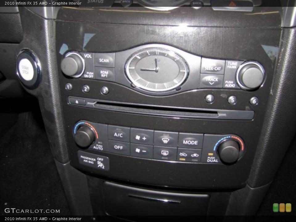 Graphite Interior Controls for the 2010 Infiniti FX 35 AWD #40200676