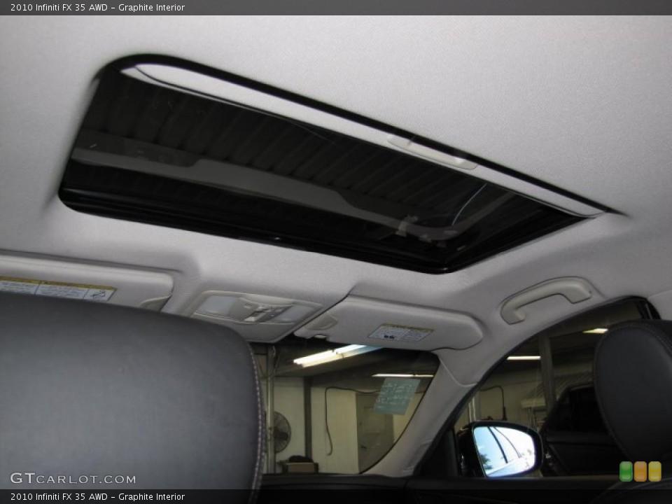 Graphite Interior Sunroof for the 2010 Infiniti FX 35 AWD #40200684