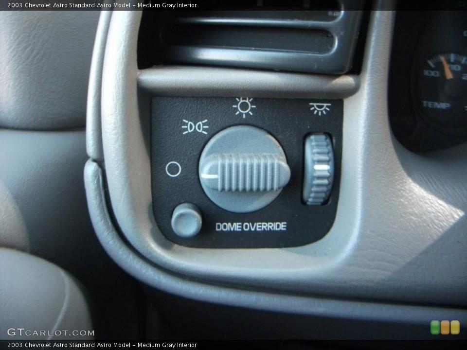 Medium Gray Interior Controls for the 2003 Chevrolet Astro  #40256154